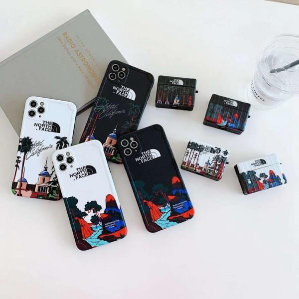 TheNorthFace ペアお揃い アイフォンiphone12/12 pro maxケース iphone 11/xs/x/8/7ケース個性潮  ファッションアイフォン12カバー レディース バッグ型 ブランドAir pods1/2/3ケース 耐衝撃 落下防止