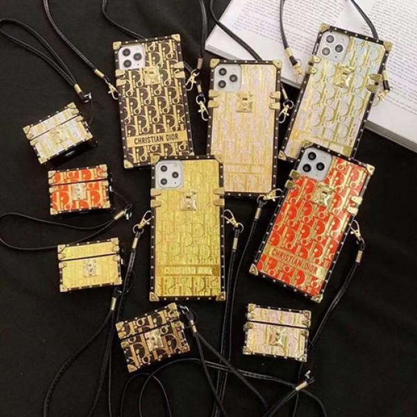 Dior ディオールトランクブランド iphone12 mini/12 pro max/12 max/12 pro airpods proケース かわいい個性潮 iphone x/xr/xs/xs maxケース ファッションレディース アイフォンiphone xs/11/8 plusケース おまけつきアイフォン12カバー レディース バッグ型 ブランド mini