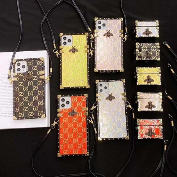 Gucci/グッチブランド iphone12 mini/12 pro max/12 max/12 pro airpods1/2/3ケース かわいい女性向け galaxy note20/s20ケースメンズ iphone11/11pro maxケース 安いレディース アイフォンiphone xs/11/8 plus/se2ケース おまけつき