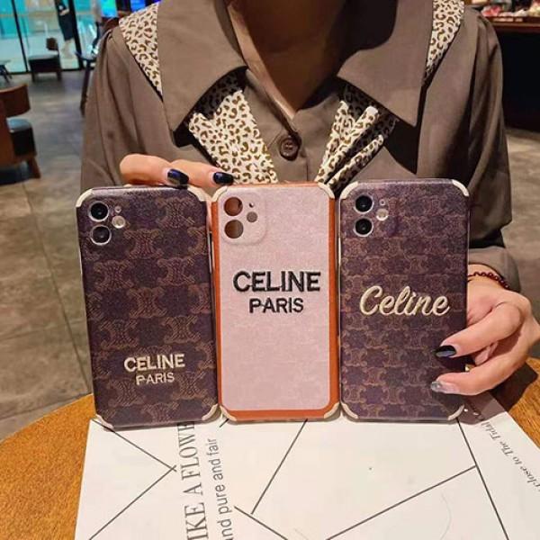 CELINE/セリーヌ ペアお揃い アイフォン12/12 pro maxケース男女兼用人気ブランド アイフォン ファッション経典 メンズレディース アイフォiphone12/xs/11/8 plusケース おまけつき