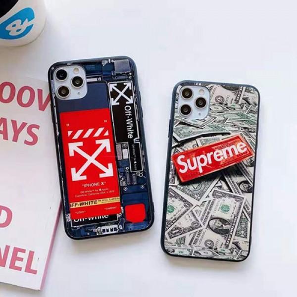 supreme/off-white ペアお揃い アイフォン12mini/12 pro maxケース ins風 iphone 11/xs/x/8/7ケースかわいいアイフォン12カバー レディース バッグ型 ブランドiphone 12ケース ファッション