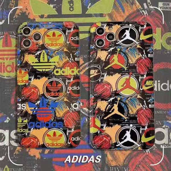 Adidas/Jordan ブランド iphone12/12pro maxケース かわいいアイフォンiphone xs/x/8/7 plusケース ファッション経典 メンズモノグラム ブランドiphone 12ケース ファッション