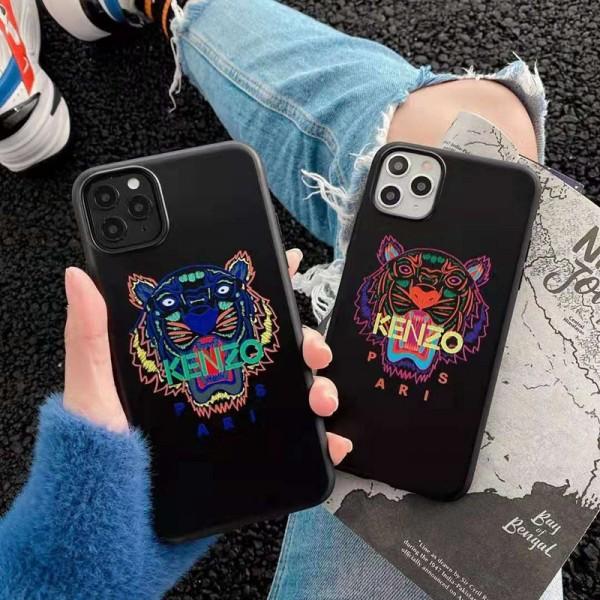 Kenzo/ケンゾー iphone12/12mini/12pro/12promaxケース男女兼用人気ブランド レディース アイフォiphone12/xs/11/8 plusケース おまけつきモノグラム  ブランド