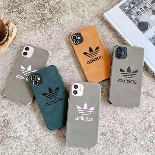 Adidas ブランド iphone12/12 pro/12pro maxケース かわいい 個性潮 アディダス iphone 12mini/11/x/8/7スマホケース 四角保護 LINE注文可 iphone12mini/11pro maxケース 安い ファッション メンズ レディース
