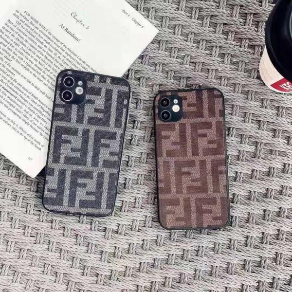 フェンデイ ブランド iphone12/12pro maxケース かわいい ビジネス 縫い布製 個性潮 おまけつき Fendi iphone x/xr/xs/xs max/8plus/11proケース ファッション アイフォン12mini/12 pro maxカバー バッグ型 レディース