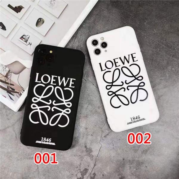 LOEWE ブランド iphone12/12pro maxケース かわいい iphone 11/x/8/7スマホケース ブランド ロエベ シンプル ジャケット 黒白色 iphone xr/xs max/11proケース LINE注文可 メンズ レディース