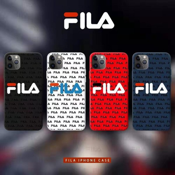 FILA フィラ ファッション セレブ愛用 iphone12/12pro maxケース 激安 シンプル ジャケットiphone xr/xs max/8plus/11proケースブランドモノグラム iphone12mini/11pro maxケース ブランド