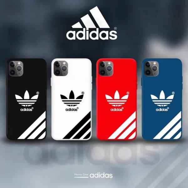 Adidas/アディダス ファッション セレブ愛用 iphone12/12pro maxケース 激安レディース アイフォiphone12/xs/11/8 plusケース おまけつきブランドモノグラム  ブランド