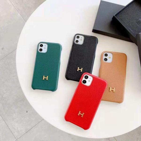 Hermes/エルメス ブランド 個性潮 iphone12mini/12pro maxケース ins風 レザー かわいい アイフォンiphone12/xs/11/8 plusケース おまけつき アイフォン12カバー バッグ型 ファッション レディース