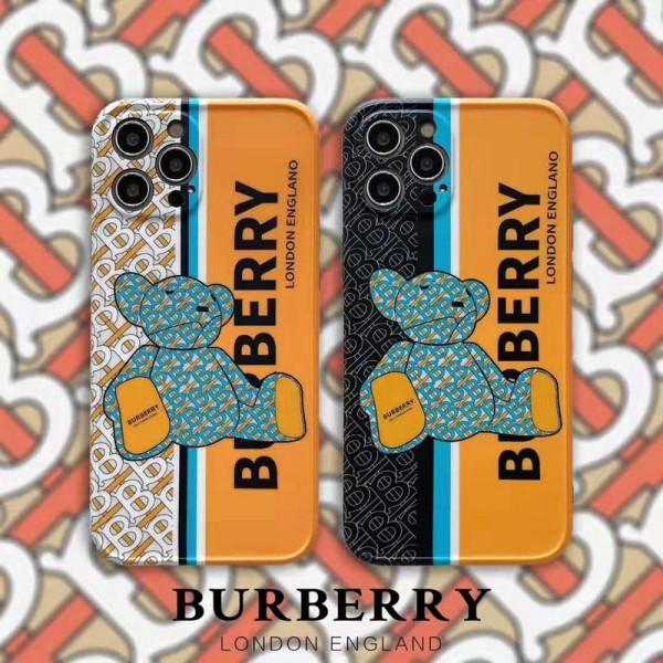 Burberry/バーバリー iphone12pro/12pro maxケースブランド 熊柄 ジャケット型 モノグラム 人気 2020 iphone12ケース 高級 iphone xr/xs max/11proケース ブランド iphone x/8/7 plusケース 大人気 メンズ レディース