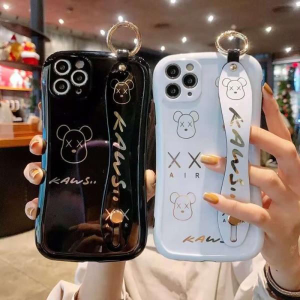 KAWS ブランド iphone12/12pro maxケース かわいいhuawei mate40/mate30スマホケース ブランド LINEで簡単にご注文可レディース アイフォiphone12/xs/11/8 plusケース おまけつきアイフォン12カバー レディース バッグ型 ブランド