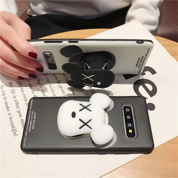 KAWS galaxys20/ note10 s10/s9 plusケース ビジネス ストラップ付きシンプル iPhone 11/11Pro max/12ケース ジャケットins風  Galaxy s10/s20+/s20 ultraケースケース かわいいレディース アイフォンiphone xs/11/8 plusケース おまけつき
