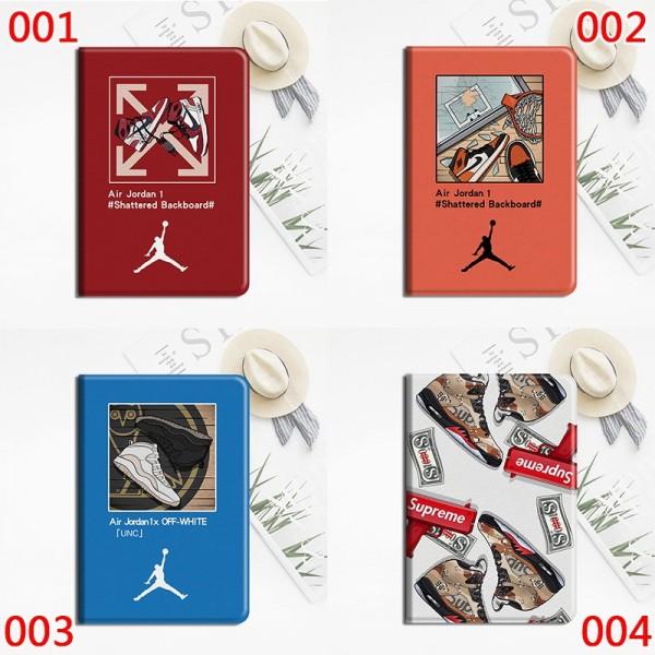 Jordan Supreme アイパッドエア1/2/ケース 横開きipad air4 mini 4/5カバー ipad 8 10.2インチ 激安 すべてのipad機種対応モノグラム ダミエ アイパッド  Off-White手帳型ブラント iPad Air 10.5インチケース  コピー