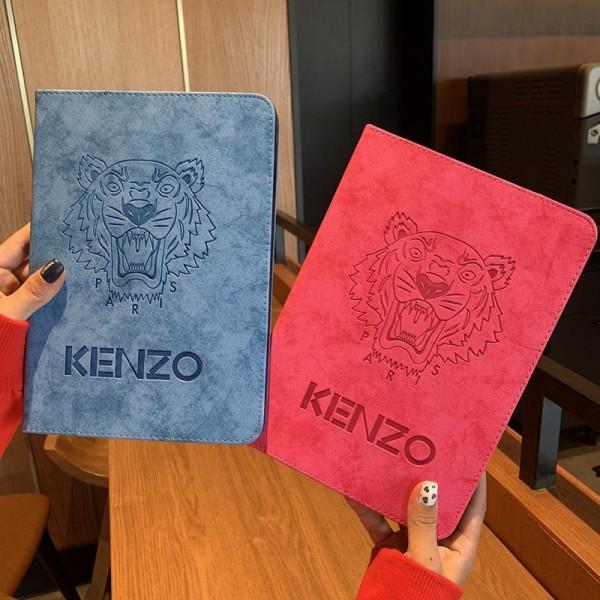 Kenzo アイパッドエア1/2/3/4ケース 横開きモノグラム ダミエ アイパッド 6/5/4/3/2ケース 手帳型ブラント iPad8 Air4 10.9インチケース  コピーアイパッド プロ2020ケース 激安 オーダーメイド