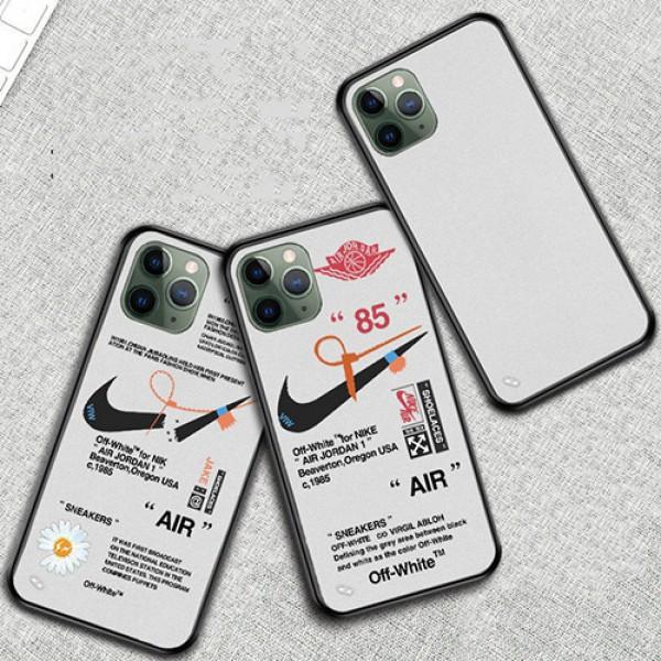 Off-White x Nikeコラボ ブランド iphone12/12pro max Galaxy note20/s20ケース かわいい女性向け iphone xr/xs max Huawei p40/mate40ケースジャケット型 2020 iphone12ケース 高級 人気iphone 12ケース ファッション