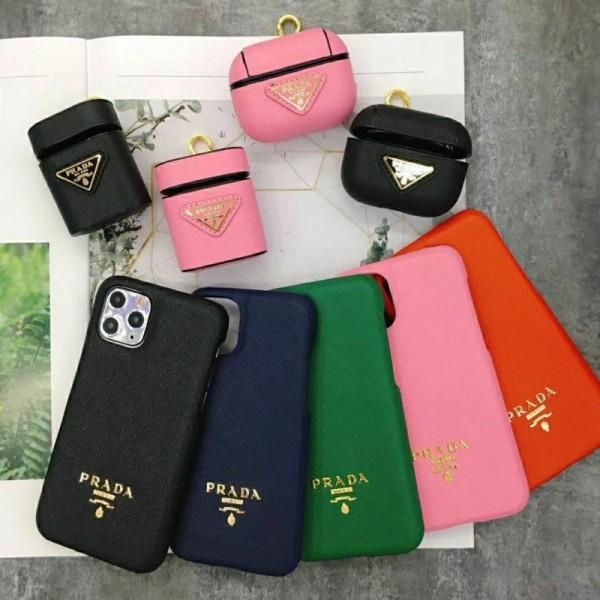 Prada/プラダ ペアお揃い アイフォン12mini/12 pro maxケース ファッション セレブ愛用 iphone12/12proケース 激安シンプル iphone 11/xs/x/8/7ケース ジャケットairpods1/2/3ケース大人気