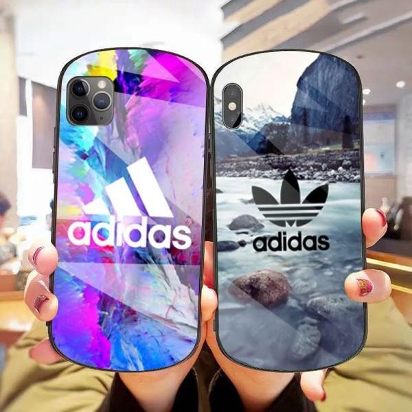 Adidas/アディダス シンプル iphone12pro/12miniケース ジャケットiphone 8plus/se2/xr/xs max/11proケースブランドジャケット型 2020 iphone12ケース 高級 人気iphone 12/12Promaxケース ファッション