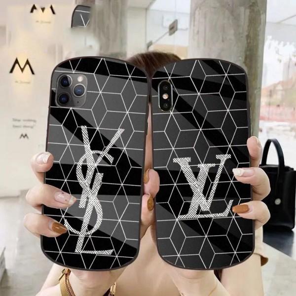 1LV/Chanel ガラス柄高級アイフォンiphone12/12miniケース YSLファッション経典 メンズ個性潮 iphone x/xr/xs/xs maxケース champion/nikeファッションiphone 11/x/8/7スマホケース ブランド LINEで簡単にご注文可