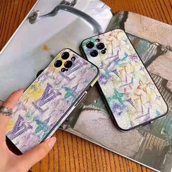 ヴィトンブランド 墨絵印刷ジャケット型 iphone 13/12S/12/12 mini/12 pro maxケース韓国風マットな質感革製 LV モノグラム個性 アイフォン11/11 pro/11 pro max/se2ケース 防塵コピーブランド iphone X/XS/XR/8/7 plusカバー 芸能人愛用 メンズ レディース