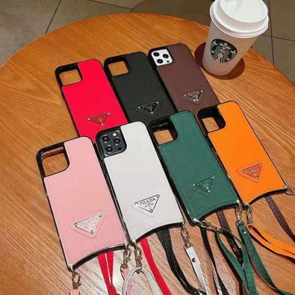 PRADA ブランド iphone 13/12 pro max/12 pro/12 mini/se2ケース デニム製 ジャケット型 多色 ストラップ付き プラダ カラビナ付 アイフォン11 pro/11 pro max/x/xs/xrケース 芸能人愛用 ビジネス風 アップル11/12/8/7/6スマホカバー メンズ レディース