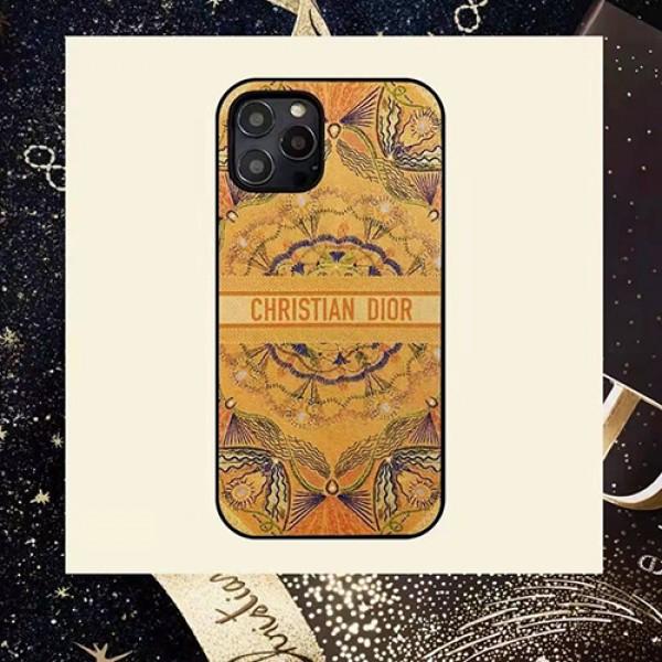 Dior/ディオール iphone12/12mini/12pro/12promaxケース ビジネス ストラップ付き個性潮 iphone x/xr/xs/xs max/8plus/11proケース ファッショブランドモノグラム