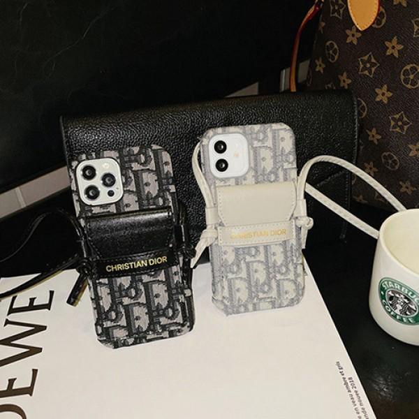 Dior/ディオールブランド激安iphone13/13mini/13promaxケース品質感ファション iphone 12/12mini/12promax カバー韓国風チエーン付き落下保護アイフォン11/ 11 pro max カバーバック付き小物収納可ジャケット型IPHONE SE2/X/XR/8/7携帯ケース女性向けアイドル愛用携帯便利