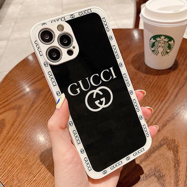 グッチ黒白ペアお揃いiphone 13 12 pro max 13 miniケースカバーブランドコピー激安レディースメンズ