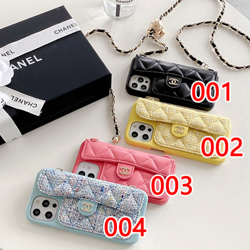 CHANEL ブランド iphone12promaxケース バック型 革製