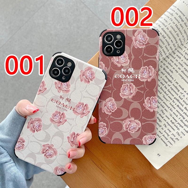 COACH  ブランド  iphone12ケース 革型  ジャケットケース