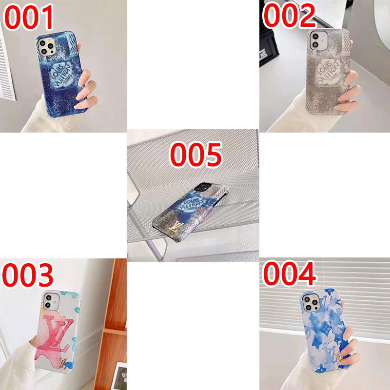 LV  ブランド  iphoneSE2ケース 墨絵印刷  ブランド風
