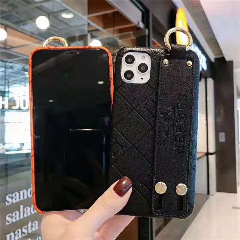 ブランド iphone12 miniケース hermes ハンドベルト付き