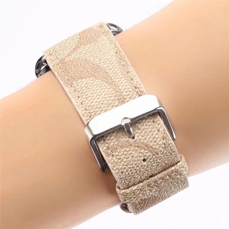 ビジネスマン用高級Apple Watch 6/5/4/3ブランドバンド本革